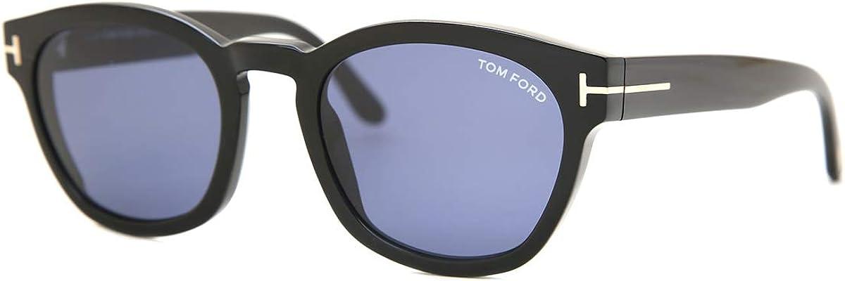 02 01V shiny black Sunglasses Tom Ford FT 0590 Bryan blue