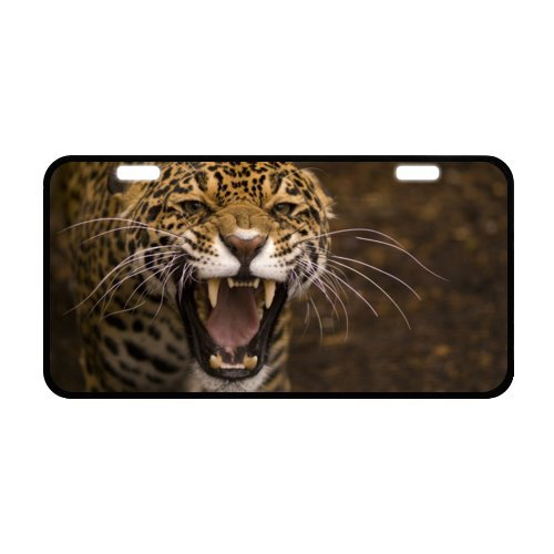 [Leopard Fierce Face License Plate with Vivid color and Detail Images-11.8
