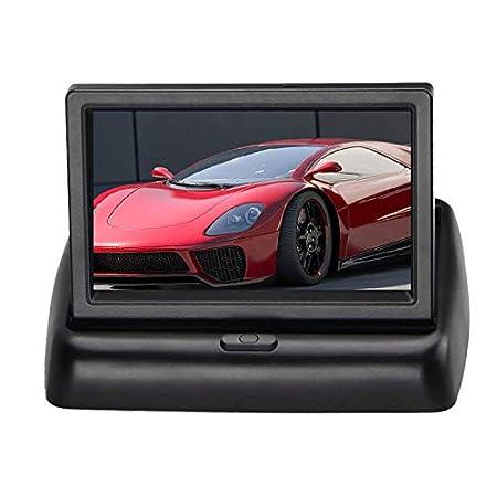Tutyuity 4.3 TFT-LCD Wireless Backup Kit Fotocamera per retromarcia senza fili impermeabile visione notturna retro radio Back Up fotocamera per auto