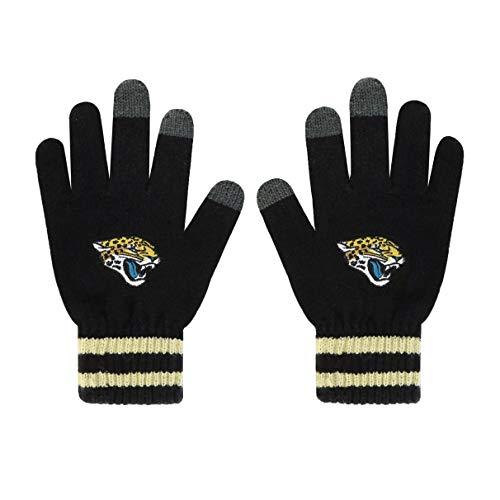 OTS NFL Jacksonville Jaguars Male Sportsman Touch Gloves, Black, Men's