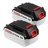 2 Pack 4000mAh Replace for Black and Decker 20V Battery Max LBXR20 LB20 LBX20 LST220 LBXR2020-OPE LBXR20B-2 LB2X4020 Power Tools