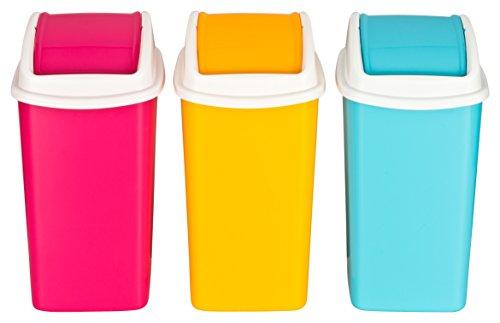 Haushaltsdose Tischabfalleimer, Kosmetikeimer 3er Set, 1,9 Liter