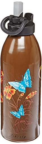 Liberty Bottleworks Papillon Aluminum Water Bottle, Made in USA, 32oz, Chocolate, Sport ()