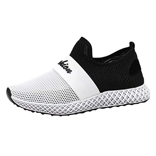 JJLIKER Men's Air Mesh Cut Out Sneakers Breathable Lightweight Walking Shoes Slip On Sports Trail Running Shoes