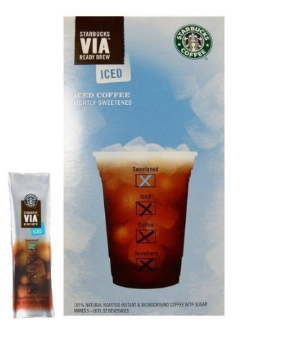 Starbucks VIA Iced Coffee, 6-Count Packages (Pack of 12)