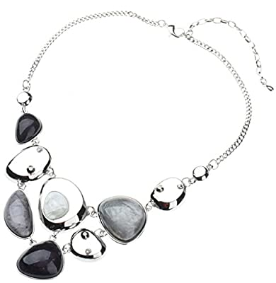 "Tagoo Vintage Statement Necklace and Earrings Set in Crystal Resin for Women&Girls16.94+3.14"", Anti-Allergic Jewelry Set, Gift for Mom Best Friends"