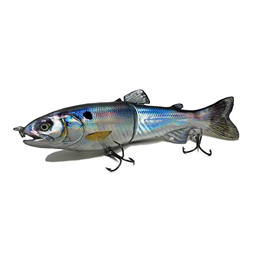 7in Glide Bait/ Swimbait – DISCO SHAD (Exclusive) – Multi Jointed Segmented Trout Gizzard Threadfin Fishing Life Like Hard Lure For Bass Pike Muskie for Casting And Trolling in Fresh Water or Ocean