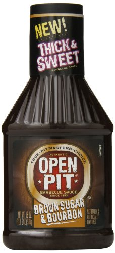 Open Pit Thick & Sweet Barbecue Sauce, Brown Sugar & Bourbon