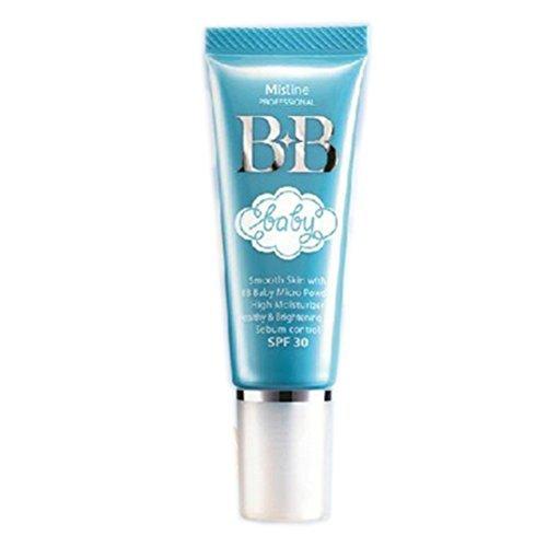 Mistine BB Baby Face Cream Make up Base Foundation SPF 30 for Smooth & Brightening Skin 15g
