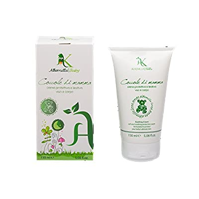 ALKEMILLA Coccole di mamma - Nappy Cream and cream body and face for babyes whit chamomille and oil of mauve - Organic, Vegan, Nickel Tested, made in Italy - 150 ml