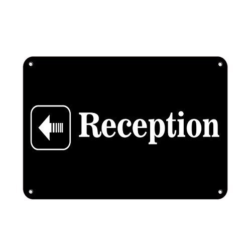 Wennuna aluminum metal Sign reception Left Arrow Business Sign Feature Department aluminum metal Sign 10/ in x 14/ in