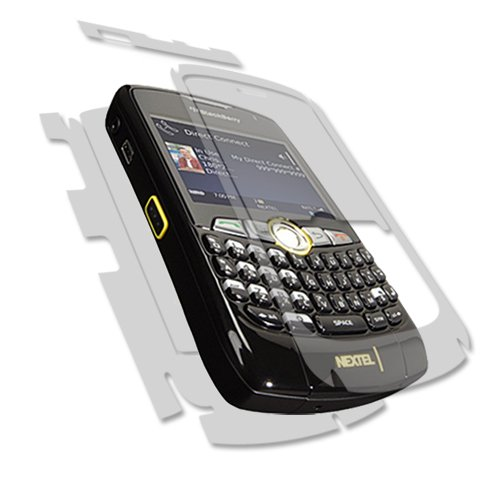 BlackBerry Curve 8350i Screen Protector + Full Body, Skinomi TechSkin Full Coverage Skin + Screen Protector for BlackBerry Curve 8350i Front & Back Clear HD Film