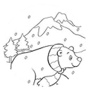 alfombrilla de ratón Polar Bear Coloring Book - ronda - 20cm