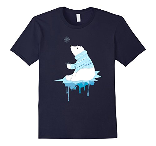 Men's Polar Bear With Snowflakes
