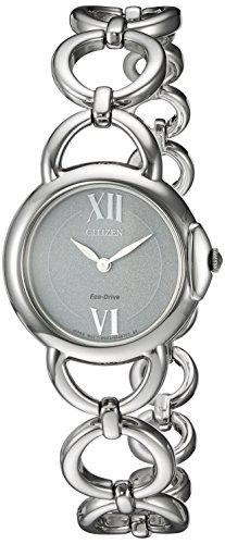 Citizen Women's 'Eco-Drive Jolie' Quartz Stainless Steel Dress Watch, Color:Silver-Toned