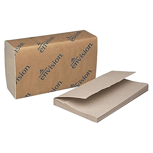 Brown Paper Towels, Single Fold, 16 Pack, 250 Sheets/ Pack