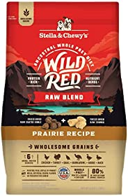 Stella & Chewy's Wild Red Dry Dog Food Raw Blend High Protein Wholesome Grains Prairie Recipe, 3.5