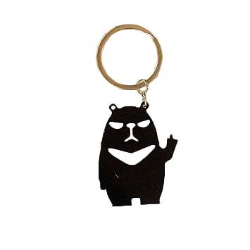 uyhghjhb Creative Panda Llavero Colgante Bolsa de Coche ...