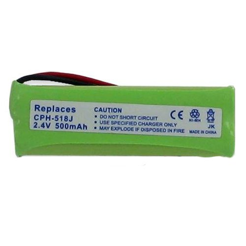 Vtech DS6423 Cordless Phone Battery 2.4 Volt, Ni-MH 500 mAh - Replacement For VTECH 89-1348-01-00, BT183482/BT283482