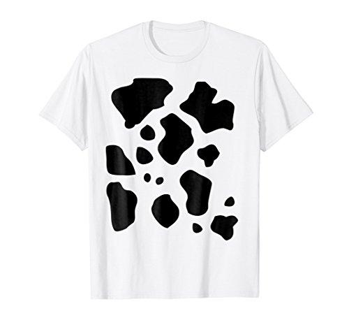 Mens Funny Halloween Costume Shirt, Cow Pattern Print Gift Medium (Funny Halloween Costume For Men)