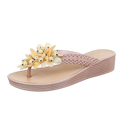 Ital-Design WoMen Sandals Beige - Beige