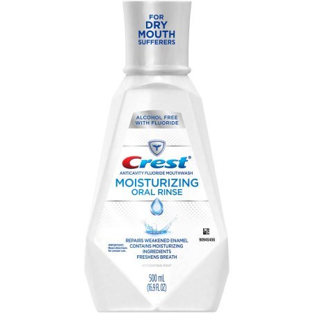 Crest Moisturizing Oral Rinse Fluoride Anticavity Mouthwash, 16.9 fl oz (Pack of 2)