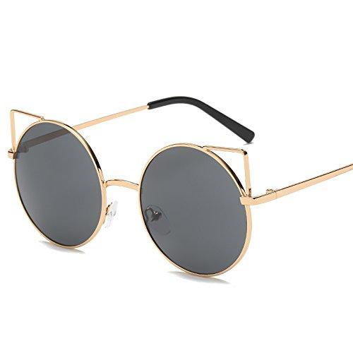 Ojo Circulares Sol Gato Gafas Sol Hundidas Sol F Metal Gafas Gafas Gafas Sol De mi De De De Ocean De JUNHONGZHANG Street Lady EtwzFwq