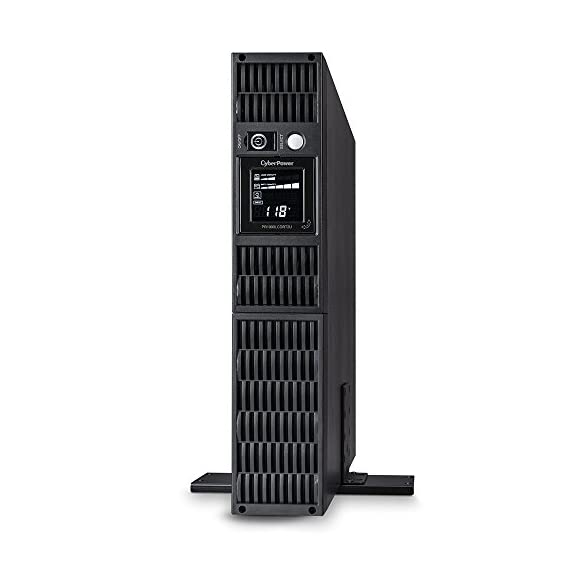 CyberPower Smart App Sinewave UPS 1 1000VA/900W Pure Sine Wave UPS - Pure Sine Wave UPS - designed to support Active PFC power supplies and conventional power supplies Line-Interactive Topology. Full AVR Buck/Boost & GreenPower UPS 2U Rack Mount/Tower convertible. Multi-function rotatable LCD display