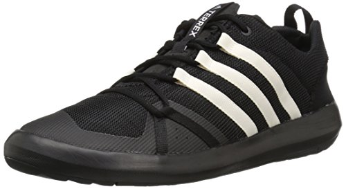 adidas Outdoor Men's Terrex Climacool Boat Water Shoe, Black/Chalk White/Chalk White, 10.5 M US