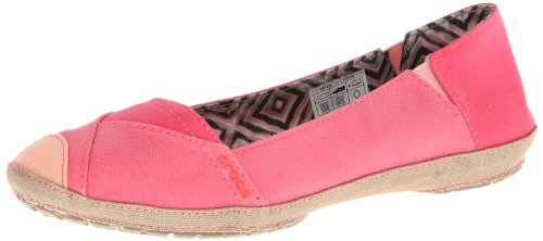 Crocs Womens Women's Angeline Boat Shoe,Pink/Khaki,10 M US