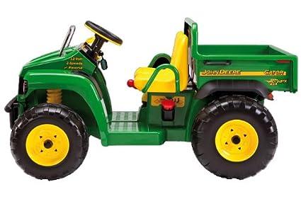 Kindertraktor mit Motor - Peg Perego 12V John Deere Gator für 2 Kinder