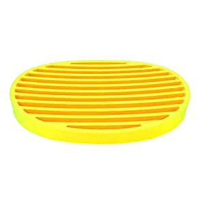 SILICON SOAP DISH 18x12.5CM-YELLOW