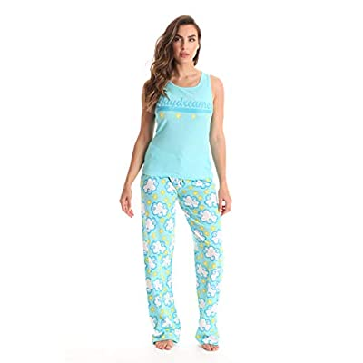 Just Love 100% Cotton Women Pajama Ribbed Tank & Jersey Pant Sets at Women's Clothing store