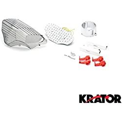 Krator Smoke LED Tail Light Integrated with Turn Signals For 2005 Yamaha FZ6 Fazer 600
