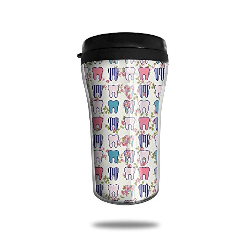 Price comparison product image Cute Pattern Dental Assistant Vacuum Insulated Stainless Steel Tea Mug ,  8.5-oz