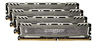 Ballistix Sport LT 32GB Kit (8GBx4) DDR4 3200 MT/s (PC4-25600) CL16 SR x8 DIMM 288-Pin Memory - BLS4K8G4D32AESBK (Gray) (B07MNJPFFF) | Amazon price tracker / tracking, Amazon price history charts, Amazon price watches, Amazon price drop alerts