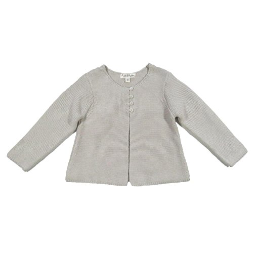 Price comparison product image Pearls and Popcorn Baby Girls' Notebook Cardigan - Dough 12 Months