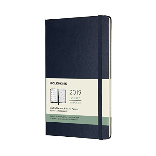 Moleskine Classic Hard Cover 2019 12 Month Weekly Planner, Large (5