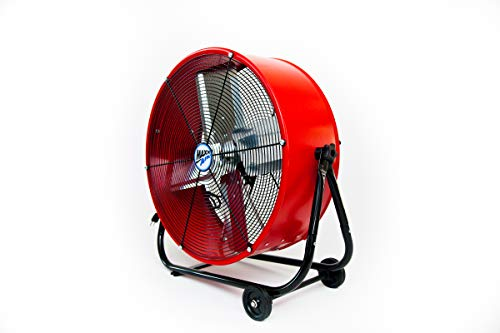 Maxx Air   Industrial Grade Air Circulator for Garage, Shop, Patio, Barn Use   24-Inch High Velocity Drum Fan, Two-Speed