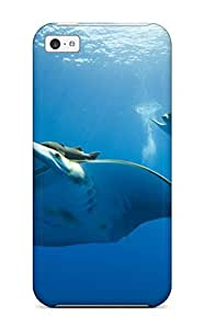 For Iphone 5c Tpu Phone Case Cover(ocean Life)