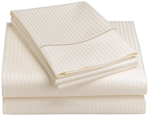 Renaissance Collection 600-Thread-Count Woven Cotton Stripe King Sheet Set, - Renaissance Thread Collection 600