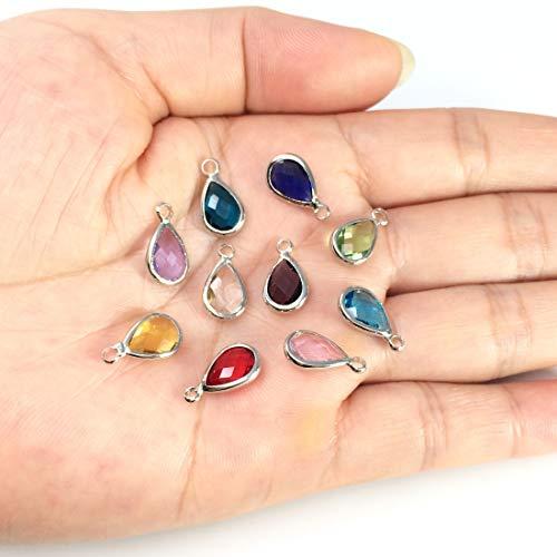 Teardrop Charm 14x8mm 10pcs Glass Teardrop Beads Crystal Teardrop Pendant