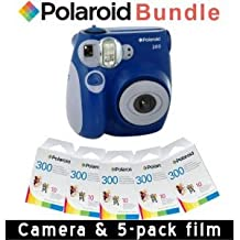 Polaroid PIC-300 Instant Camera in Blue + Accessory Kit