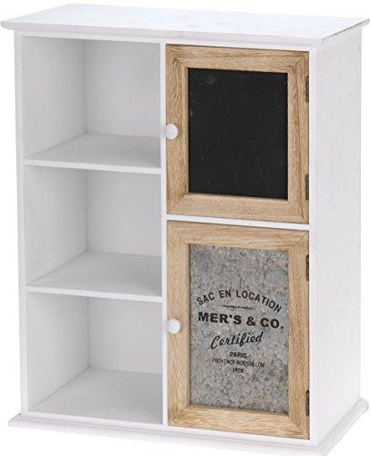 Holz-Kstchen-im-Landhaus-Stil-Mini-Kommode-mit-5-Fchern-Regal-Ablage-Aufbewahrung