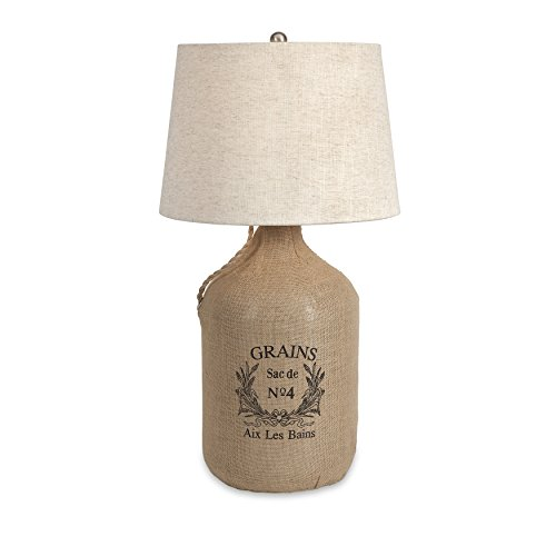 IMAX 71736 Radburn Jute Wrapped Wine Jug Lamp