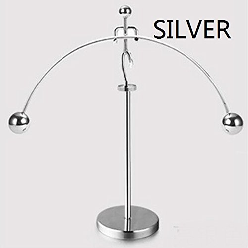 Chaos perpetual motion machine tumbler Newton metal home balance iron man pedometer TA122614 ( Color : Silver (Balance Pedometer)