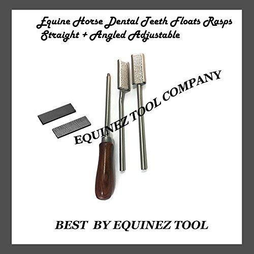 Equine Horse Dental Teeth Floats Rasps Straight + Angled Adjustable Veterinary by Equinez Tools