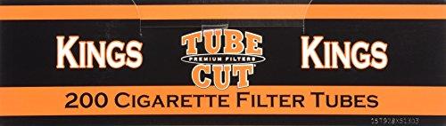 Gambler Tube Cut Regular King Size RYO Cigarette Tubes 200ct Box (5 Boxes) by Gambler