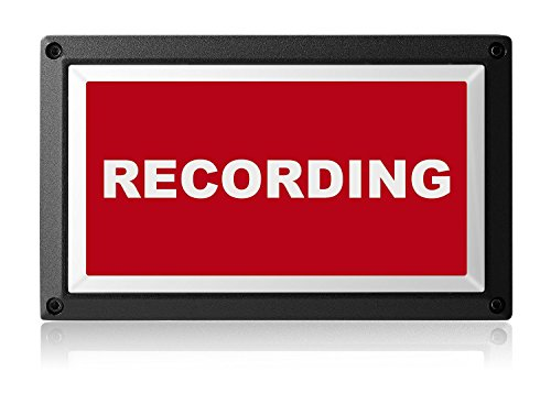 Rekall Dynamics Commercial Recording Sign for Television, Radio. A professional Recording Light for Music & Broadcast Studios. (Low Voltage: 12-24vDC) ()