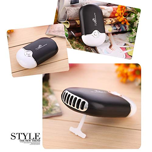 Mini ventilatore portatile ad asciugatura rapida per ciglia innesto impianto di raffreddamento senza aria condizionata Fanfree Nero